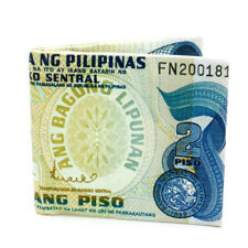2 Philippine Pesos Currency Design Money Bi-Fold Canvas Wallet