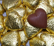 Luxury Foil Wrapped Chocolate hearts, wedding favor. Brides favourite. Yum Yum.