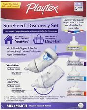 Playtex SureFeed Discovery Mix & Match Nipples & Bottles Gift Set ~ New & Sealed