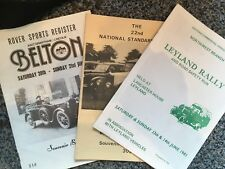 Standard, Leyland and Rover Rally Runs, 1981, Official Programmes