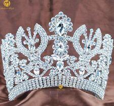 Luxurious Miss Pageant Tiara Crown Rhinestone Women Headband Wedding Parade Prom