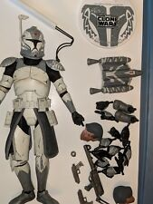 Star wars 1/6 scale sideshow  Clone Trooper Commander Wolffe loose