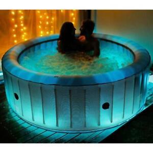 2021 Mspa Starry Comfort 6 Bathers Portable Inflatable Hot Tub Jacuzzi Bubble UK