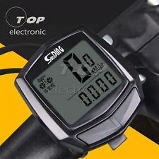 Waterproof Bicycle Speedometer Wired Cycle Bike Meter Computer Odometer Black