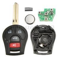 4 Buttons Keyless Uncut Remote Key Fob 315Hz + Transponder Chip 46 For Nissan !