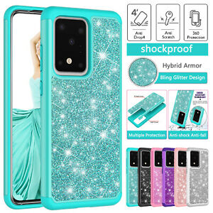 Samsung Galaxy S20 Ultra S10 10E S9 S8 Note10 Plus Case Heavy Duty Glitter Cover
