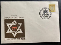 1993 Vilnius Lithuania First Day Cover FDC Holocaust Commemoration