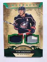 20-21 UPPER DECK ARTIFACTS CAM ATKINSON EMERALD DUAL PATCH! 35/65🏒🔥👍 Jackets!