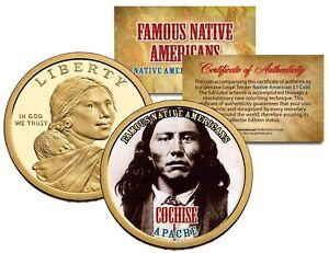 COCHISE Famous Native American Series 2013 Sacagawea Dollar Coin OTTAWA Indian