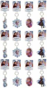 Disney Frozen 2 Anna, Elsa, Olaf Lucite Keychains, Party Favor 12-Pack Set