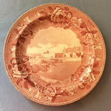 "Wedgwood Fort Ticonderoga South Wall and South Barracks 9"" plate ca 1951"