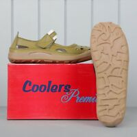 Ladies Real Leather Coolers Premier Summer Sandals Shoes Taupe 3-7