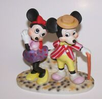 "Mickey & Minnie Mouse Ceramic 6"" Figurine W Disney Productions Japan Vintage"