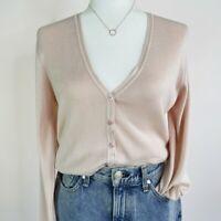 Vintage Henri Bendel Silk Classic Cardigan Women's Size Large