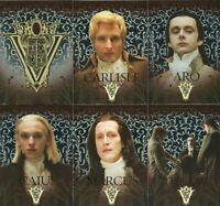 The Twilight Saga: New Moon Volturi Coven Foil Chase Card Set VO-1 thru VO-6