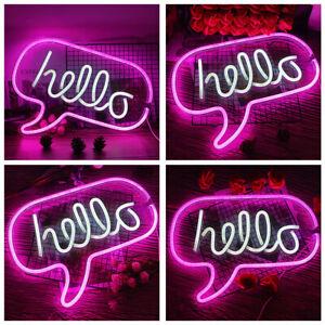 USB Neon Sign Light LED Wall Light Visual Artwork Bar Lamp Home Room Shop Decor