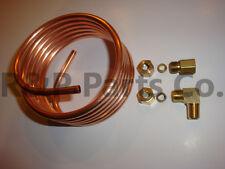 "Tractor Oil Pressure Gauge Copper Tubing Line Kit 1/4"" for Farmall H M SH SM MD"