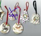 1+X+Chihuhua+Dog+Ceramic+Hand+Made+Xmas+Decoration+-NEW-+MUST+L%40%40K+-+choice+of+4