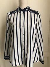 Camicia a righe bianche e blu ZARA striped blue and navy shirt M