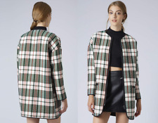 Topshop Womens Check Coat Size Uk8 Eur36 Us4