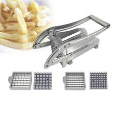 Cortador de patatas Desbrozadora Cortadora Rebanadora francés freír Chip + 2 cuchillas de acero inoxidable