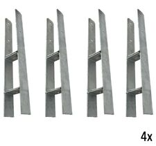 4x H-Anker verstellbar für Pfosten  91-101-111-121-131-141 mm Pfostenschuh 5mm