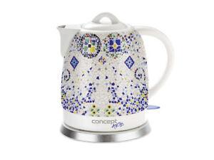 Design Keramik-Wasserkocher für 1 Liter 1500 Watt schnurlos Emerio WK-109713.2