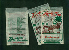 3 alte Pergamin-Tüten W. Hamberger Gewürze Jugenheim Bergstraße Kardamom Import