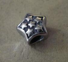 Edelstahl Bead Element Stern mit Sternchen Antiksilber Silber für Armband 1440