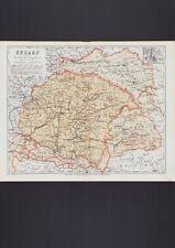Landkarte map 1867: Ungarn und seine Nebenländer.