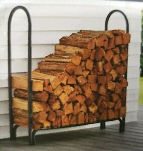 Style Selections 4-ft Deluxe Log Rack Black #2416919