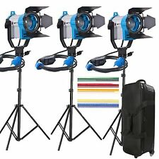 Fskit 150fc Fresnel illuminazione continua video in tungsteno 450w Luce Spot 3 Set Caso