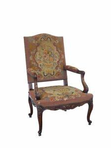 Stuhl Polsterstuhl Salonstuhl Antik Louis Philippe um 1870 Eiche B: 70cm (10442)