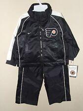 NWT Nike 18M Philadelphia Flyers Windsuit Jacket Pants Black Lined NHL Coat