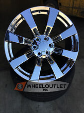 "26"" GMC Sierra Style Wheels Tires Chrome Rims Denali Yukon Chevy Silverado Tahoe"