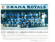 1973 OMAHA ROYALS 8X10 TEAM PHOTO KANSAS CITY NEBRASKA BASEBALL WHITE PAEPKE