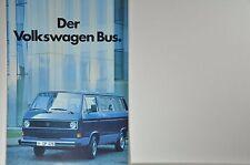 VW Volkswagen Bus T3 Caravelle GL CL C Kombi L Prospekt 08/1983