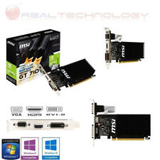 SCHEDA VIDEO DDR3 2GB GE FORCE GT 710 MSI NVIDIA 954MHZVga/Dvi/Hdmi GAMING