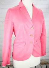 LANDS' END Chino Jacket Button Down Blazer Cotton Women's Petites Size 6P Pink