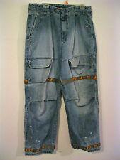 Marithe Francois Girbaud Shuttle Tape Jeans Vtg 90s Cargo Hip Hop Baggy 38 x 33