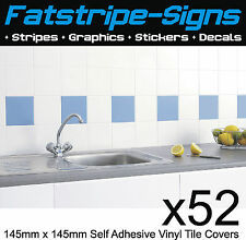Kitchen Bathroom Ceramic Wall Tile Self Adhesive 145mm Cut Vinyl Sticker Covers