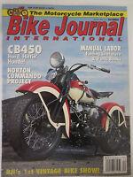 Bike Journal International Magazine December 1992 Honda CB450 Norton Commando