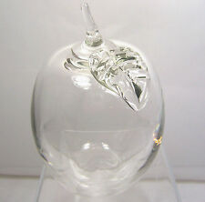 Hand Blown Crystal Clear Glass Fruit Vegetable  4""