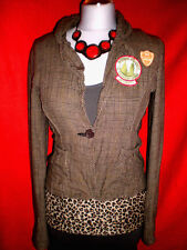 ONLY BLAZER JACKE PATCHES KARO Romantik BoHo ARMY BLOGGER XS S 34 36 Wie NEU TOP