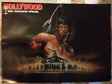 SYLVESTER STALLONE RAMBO - DOUBLE-SIDED GIANT POSTER FROM HOLLYWOOD MAGAZIN