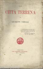 GIUSEPPE CIMBALI_LA CITTA' TERRENA_ROMA_POLITICA_GIURIDICA_FILOSOFIA_MORALITA'
