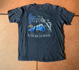 RARE 1980's Harley davidson T-shirt XL 3D emblem IT MARKS MY SPACE BOSTON, MASS