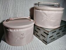 American Breast Care Round Travel Cases 2 Zip Pink Blush Storage Containers ABC