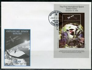 PALAU 1998 THE FIRST INT'L SPACE STATION ENTRY S/S FIRST DAY COVER