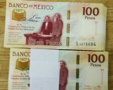 Banco de Mexico 100 x 100 Pesos Series NEW COMMEMORATIVE Bundle Crisp UNC.